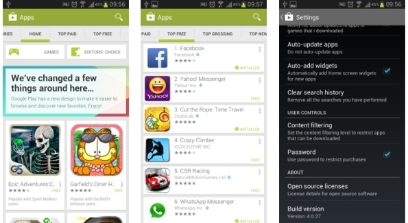 Cara install Google Play Store 4.0.27